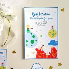 Il piccolo principe Invito compleanno personalizzato digitale Party Printable stampabile festa biglietto invito Battesimo pianeti volpe