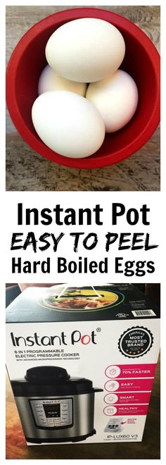 Instant Pot Hard Boiled Eggs Recipe–easy to peel hard boiled eggs without the gray ring around the yolk, made in your pressure cooker in a total time of 26 minutes. #instantpot