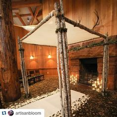 #chuppah #huppah #jewishwedding #weddinginspiration  #Repost @artisanbloom with @repostapp ・・・ Since we're on a chuppah kick this week, here's a bit of inspiration for your winter wedding planning!  Happy #weddingwednesday!  Photo: @loganwalkerphoto