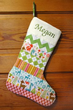Girlfriend's gotta have a Christmas stocking! Girls Woodland Personalized Christmas Stocking - Boys Version Also Available
