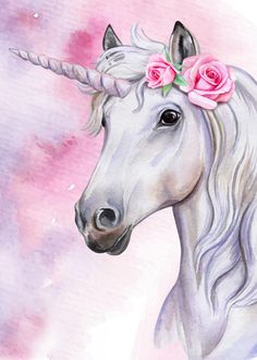 unicorn portrait poster by from collection. By buying 1 Displate, you plant 1 tree. Unicorn Painting, Unicorn Drawing, Unicorn Art, Cute Unicorn, Unicorn Poster, Real Unicorn, Unicorn And Fairies, Unicorn Fantasy, Unicorns And Mermaids