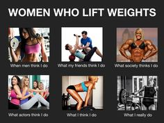 Fitness Myth: Women who lift weights are bulky she-men. Meme from the Cody App blog. #fitspiration #fitness #codyapp