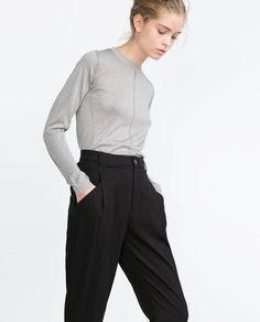 Image 2 of LOOSE FIT TROUSERS from Zara