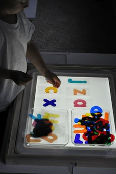 DIY Light Panel Letter Cards | Activities For Children | Letters/Numbers, Playing with Light, Rainy Day Play | Play At Home Mom