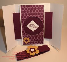 Gatefold Shutter Card Open by Sistah75 - Cards and Paper Crafts at Splitcoaststampers
