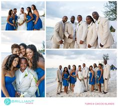 Leticia and Damien's Beaches Wedding in Turks and Caicos with Brilliant Studios