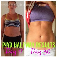 PIYO - 30 DAY RESULTS - Haley Treiber Piyo Results, Results Day, Best Cardio Workout, Workout Humor, Gym Workouts, Thin Motivation, Fitness Motivation, Gym Fitness, Best Weight Loss