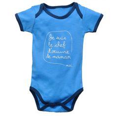 """Body bébé garon """"je suis le chef d'oeuvre de maman"""", chez Gaspard et Zoé : http://www.gaspardetzoe.fr/55-cadeau-bebe-garcon"""