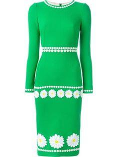 платье с вышвкой ромашек
