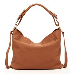 hobo sandstone tan Designed with the busy modern woman in mind, the Lauren combines function with effortless style. Made from pebbled leather #handbags #Fashion