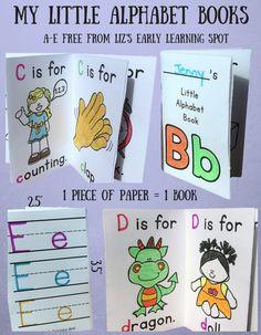 My Little Alphabet Books - Liz's Early Learning Spot
