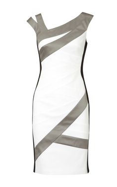 Karen Millen Colour Block Dress White And Multi Women