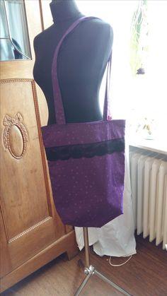 """Umhängetasche/Shopper  """"Purple""""      Liebevoll gestaltetes Einzelstück"""