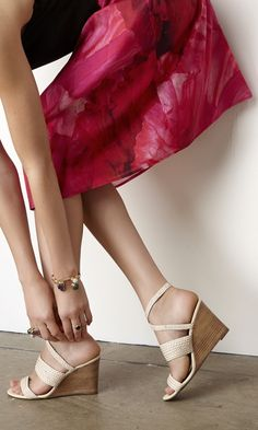 Solely Weddings: for the wedding guest a strappy, braided wedge heel.