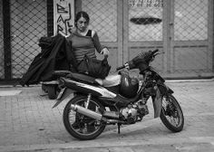 Athens № 13 - Woman and Bike, Psyri