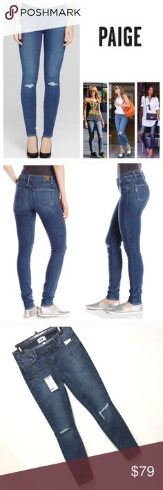 Paige Versugo Ankle Knee Ripped Skinny Jeans 29 New with tag.  Women size 29 Retail: $229 plus tax  ❌NO Trade.  ❌Lowball Offer Will be IGNORED&BLOCKED.  ⚡️Serious Buyer ONLY⚡️NO DRAMA! ⭐️Same/next day shipping via USPS ⚠I video record all sales from packing to shipping so we are both protected ⚠ Paige Jeans Jeans Skinny