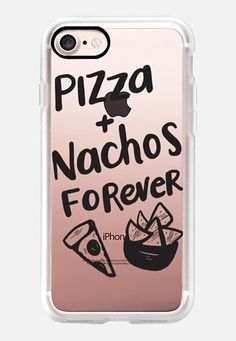 Casetify iPhone 7 Classic Grip Case - Pizza + Nachos Forever by Sea & Lake Paper Co. #Casetify