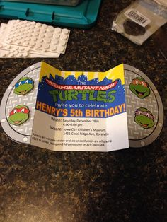 Teenage Mutant Ninja Turtle Birthday Invitation by ThompsonThreads