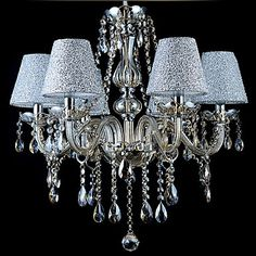 40 Chandelier , Modern/Contemporary Traditional/Classic Vintage Electroplated Feature for Crystal GlassLiving Room Bedroom Dining Room 1673970 2017 – $222.29