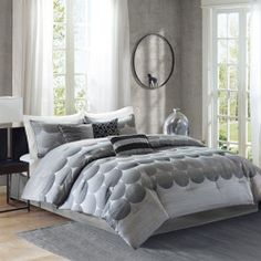 Daily Review - Madison Park Rocklin 7 Piece Comforter Set - Charcoal - Cal. King