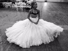 Rehearsal petticoat worn by dance double Flik Swan.