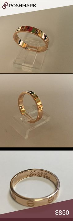 Genuine Cartier Love Ring 18kt rose gold, size 8 Cartier Jewelry Rings