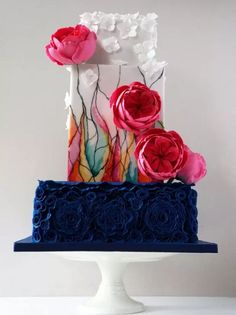Stained Glass Cake | 15 Stunning Wedding Cakes For A Unique Wedding | Make Your Wedding Extra Special with these Beautiful, Elegant and Creative Cake Ideas | http://homemaderecipes.com/15-stunning-wedding-cakes/