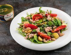 Салат с тунцом и белой фасолью   Кулинарный сайт Юлии Высоцкой: рецепты с фото