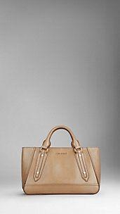 Large Patent Leather Landscape Tote Bag