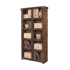 Industrial Display Case with 10 Shelves ❤ liked on Polyvore featuring home, furniture, storage & shelves, display units, book shelves, storage shelf, industrial book shelves, book display shelves and industrial shelves