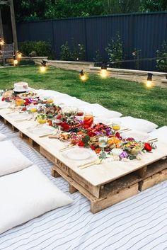 Garden Party Ideas, The Best Summer Party Gartenparty-Ideen, die beste Sommerparty – Backyard Picnic, Backyard Ideas, Wedding Backyard, Backyard Landscaping, Garden Picnic, Landscaping Ideas, Garden Wedding, Backyard Seating, Modern Backyard