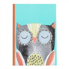 Cute owl A5 thick exercise book