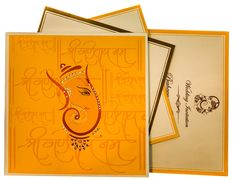 Ganesha Themed Wedding Cards with Hindu Shlokas                              …