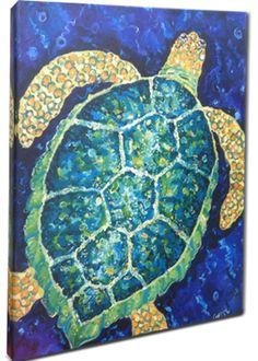 Sea Turtle Art Print Giclee