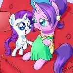 Commission again for This time we have Rarity putting a hoof up to her moms pregnant belly, and to her surprise she feels another hoof in return. I Felt A Hoof! Mlp Pregnant, Getting Pregnant, Marvel Spider Gwen, Mlp Rarity, My Little Pony Wallpaper, Sweetie Belle, Princess Luna, Rainbow Dash, Little Sisters