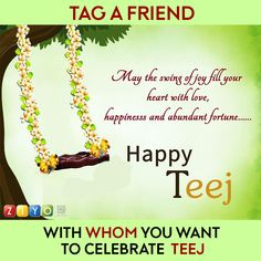 #Celebrate Happy #HariyaliTeej with #ZIYO!  #Tag & #Win Coupon for ZIYO Shopping. #Haryana #Punjab #teej #Rajasthan #TeejKiMehndi