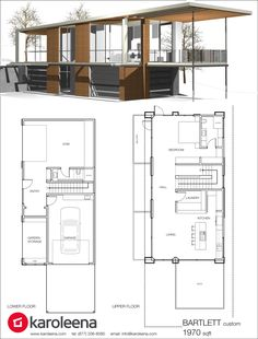 Check out these custom home designs. View prefab and modular modern home design ideas by Karoleena. Modular Home Plans, Modern House Plans, Modular Homes, Prefab Homes, Small House Plans, House Floor Plans, Tiny House Design, Modern House Design, Custom Home Designs