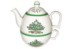 Spode Christmas Tree Mug & Teapot