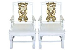 CHINESE STYLE INTERIORS | Chinese-Style Lacquered Armchairs, Pair on ... | Interior Accessories