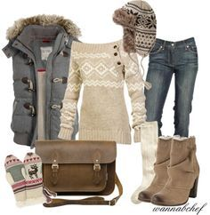 What screams WINTER more than cozy casual-cute winter outfits Komplette Outfits, Polyvore Outfits, Fall Outfits, Casual Outfits, Fashion Outfits, Womens Fashion, Fashion Trends, Maternity Outfits, Fashion Ideas