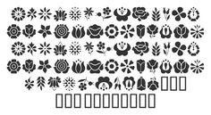 Kalocsai floral motifs for designers