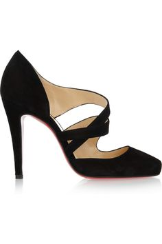 Louboutin ~ Black Suede