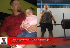"""That just gave me a perspective on how my family, and my children, saw me… I don't want to be that for my children.""  What happened to change Dan's course, his 130 lb #weightloss (60 kg), and a great tip for controlling snack portions:  -> http://scale.fm/71pn"