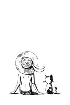 "Saatchi Online Artist: Indrė Bankauskaitė; Pen and Ink, Drawing ""Summer"""