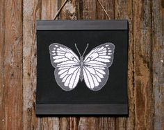 modern black and white butterfly cross stitch pattern