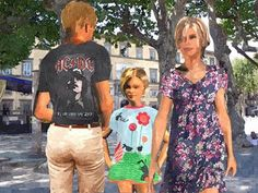 Eva und Peter haben Besuch von ihrer kleinen Nichte Miriam. Sie verbringen einen Sommertag im schönen Lucca
