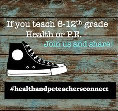 Want to be part of a dynamic forum just for Health and P.E. teachers?  I just started this on Instagram, so come contribute! #healthandpeteachersconnect