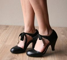 these look like some old school tap shoes. love it. chie mihara