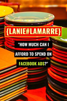 How much you can afford to spend on your Facebook ad campaign will depend the strategy and marketing plan you have in place to support it.Head over to the post to read more on paid traffic optimization, lead generation and the Facebook ads reporting you'll want to have in place to better inform your ad cost decisions. // Lanie Lamarre - OMGrowth