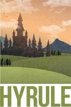 Hyrule Retro Travel Poster. Poster from AllPosters.com, $9.99